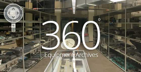 360 degree view of a collection of some of the Cable Center Barco Library holdings