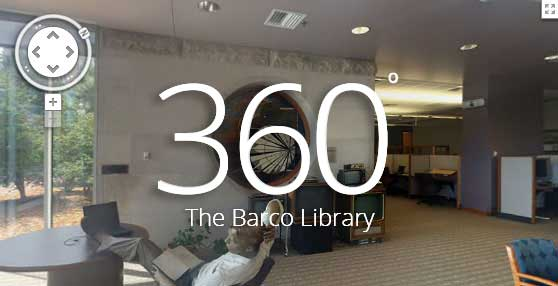 360 degree photosphere of the Barco Library in Denver
