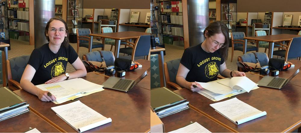 Scholar Kit Hughes Conducts Research in the Barco Library
