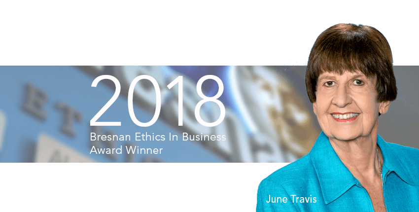 CHOF Bresnan Award June Travis 2018